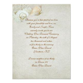Tropical Wedding Vow Renewal Card