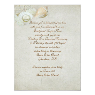 Tropical Wedding Vow Renewal Personalized Invite