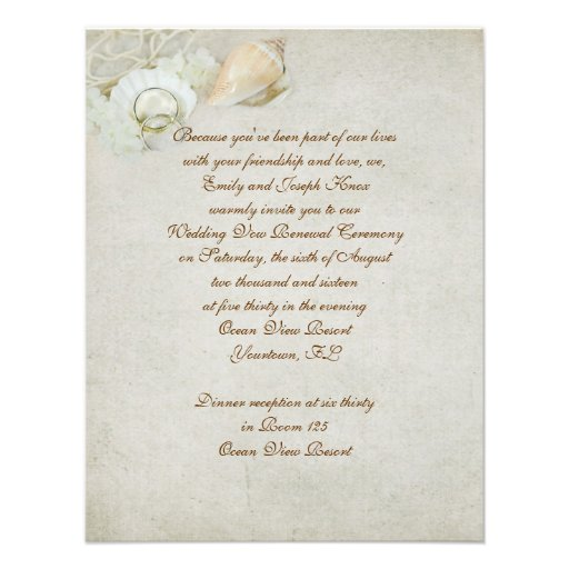 Wedding Gifts For Vow Renewal : Tropical Wedding Vow Renewal 4.25x5.5 Paper Invitation Card Zazzle