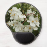 Tropical White Begonia Flowers Gel Mouse Pad