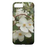 Tropical White Begonia Flowers iPhone 8 Plus/7 Plus Case