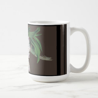 Tropical White Orchid Flowers Floral Island Mug