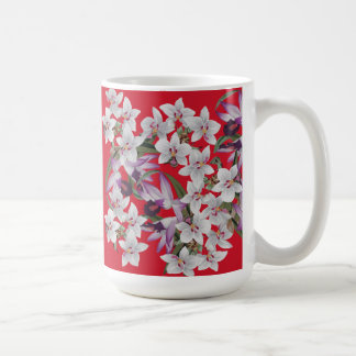 Tropical White Orchid Flowers Floral Islands Mug
