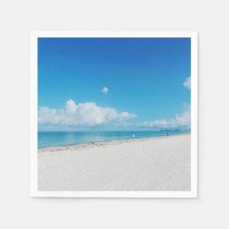 Tropical White Sand Beach Paper Napkin