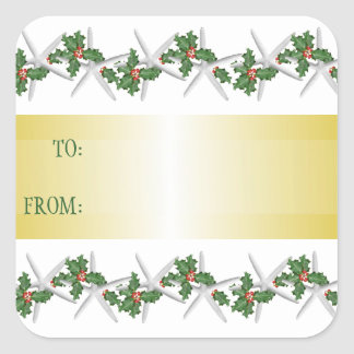 Tropical White Starfish Square Gift Tag Square Sticker