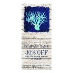 tropical whitewashed wood nautical coral reef rack card
