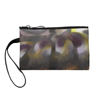 Tropical Wind Pastel Abstract Coin Purse
