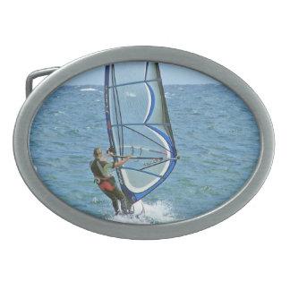 Tropical Windsurfing Buckle Oval Belt Buckles