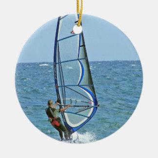 Tropical Windsurfing Ornament