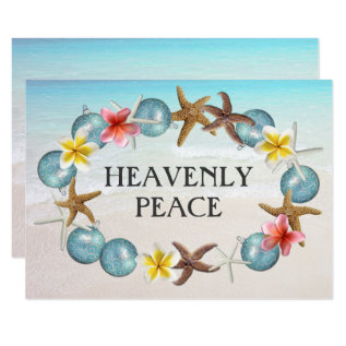Tropical Wreath 5x7 Scripture Christmas Card at Zazzle