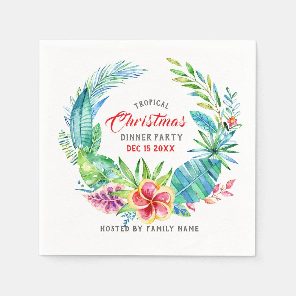 Tropical Wreath Christmas Dinner Party
