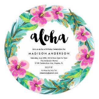 Tropical Wreath Party Invitation