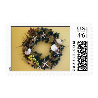 Tropical wreath postage stamps