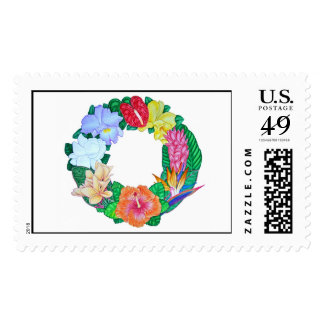 Tropical Wreath Stamp