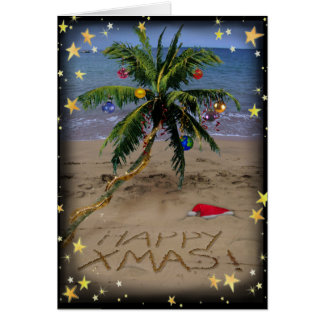 Tropical X-mas Greeting Card