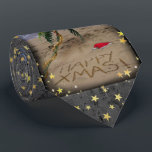 """Tropical X-mas Neck Tie<br><div class=""""desc"""">Palm-tree,  decorated with christmas ornaments on a sandy beach. Words &quot;Happy Xmas&quot; written in the sand.</div>"""