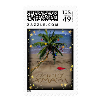 Tropical X-mas Postage Stamps