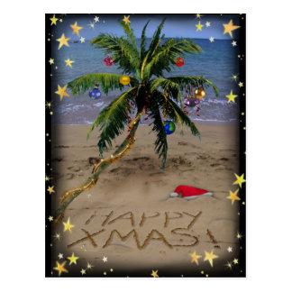 Tropical X-mas Post Card
