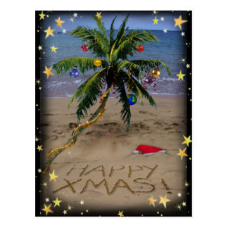 Tropical X-mas Postcard