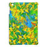 Tropical Yellow Sedum Floral Pattern iPad Mini Cover