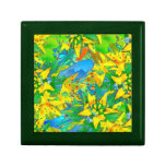 Tropical Yellow Sedum Floral Pattern Jewelry Box