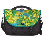 Tropical Yellow Sedum Floral Pattern Bag For Laptop