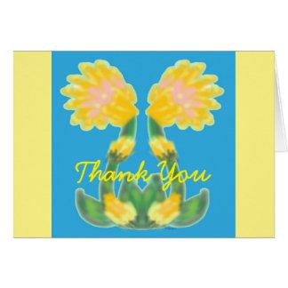 Tropical Yellows Card