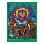 Tropical Zachary Bear® Posters