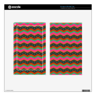 Tropical Zigzag Decal For Kindle Fire