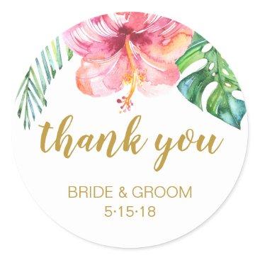 Wedding Themed TropicalBeach Wedding favor label