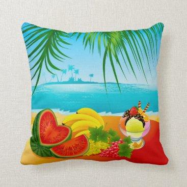 Beach Themed Tropicale Throw Pillow