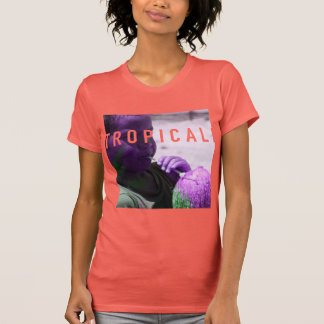 Tropicali water Coconut t coral/purple/green T Shirt