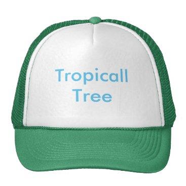 Beach Themed Tropicall Tree Trucker Hat