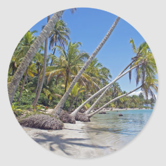 tropicalparadise classic round sticker