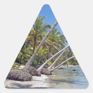 tropicalparadise triangle sticker