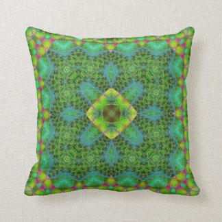 Tropicana Kaleidoscope Design No 3 Throw Pillow