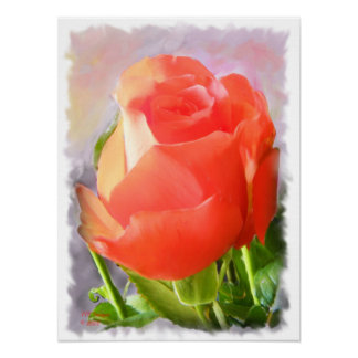 Tropicana Rose -Painting Poster