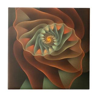 Tropicanna Orange Abstract Floral Tile