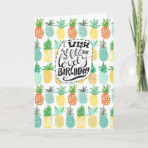 Tropics Birthday Pineapple Pattern | Greeting Card