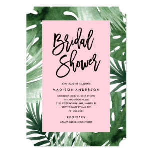 Tropical bridal shower invites arts arts tropical bridal shower invitations announcements zazzle filmwisefo