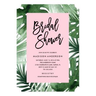 tropics bridal shower invitation