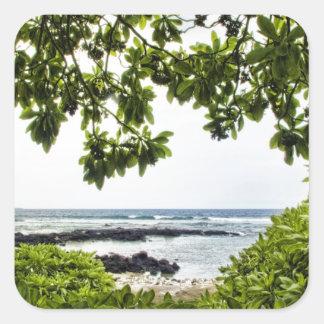 Tropics By the Sea Square Sticker