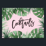 "Tropics Cocktails Print<br><div class=""desc"">Celebrate your next baby shower,  bridal shower or wedding with coordinating event signs! 
