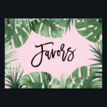 "Tropics Favors Print<br><div class=""desc"">Celebrate your next baby shower,  bridal shower or wedding with coordinating event signs! 