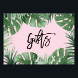 "Tropics Gifts Print<br><div class=""desc"">Celebrate your next baby shower,  bridal shower or wedding with coordinating event signs! 