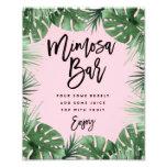 Tropics Mimosa Bar Print