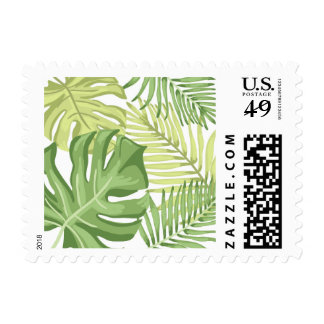 Tropics Postage Stamps Palm leaves Tropical Hawaii
