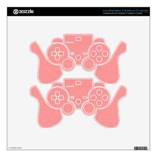 TROPICS SOLID CORAL PINKS BACKGROUNDS WALLPAPERS T SKINS FOR PS3 CONTROLLERS