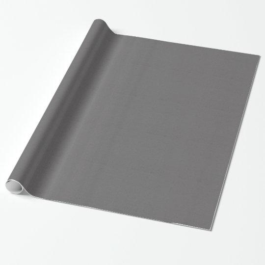 TROPICS SOLID DARK GREY GRAY RAINCLOUD BACKGROUNDS WRAPPING PAPER