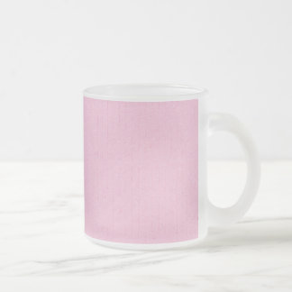 TROPICS SOLID GIRLY PINK BACKGROUNDS WALLPAPERS TE FROSTED GLASS COFFEE MUG